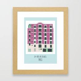 24 rue des Bluets Paris Framed Art Print