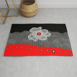 Poppy and red rivers Rug