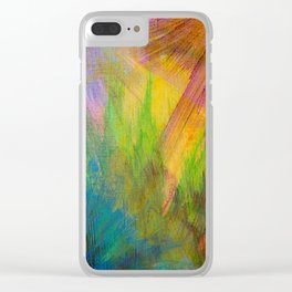 Superstiton Mountains Abstract Clear iPhone Case