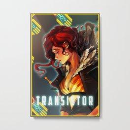 Transistor's Red Metal Print