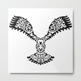 Decorative Black Eagle Metal Print