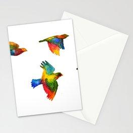 Rainbow Flight Stationery Cards