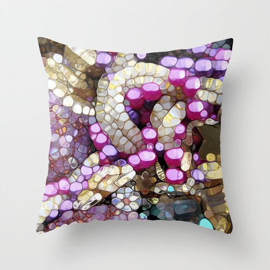For the Love of BLING! Throw Pillow