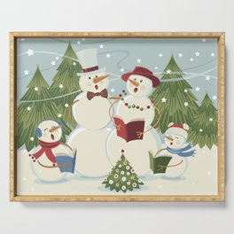 Christmas Song / Snowmen Serving Tray