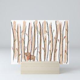 Rise and Grind-Brown Bear Necktie Mini Art Print
