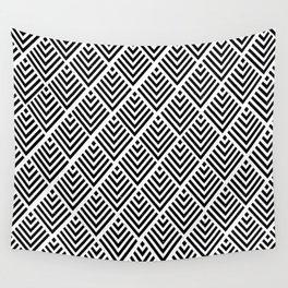 Black Pattern Wall Tapestry