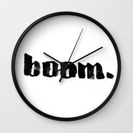 boom. Wall Clock
