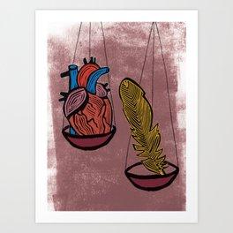 Justice Tarot card Art Print