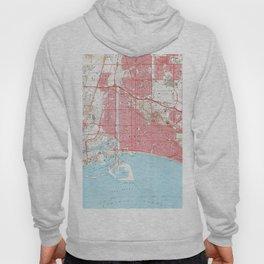 Vintage Map of Long Beach California (1964) 4 Hoody