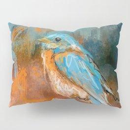 A Splash Of Bluebird Pillow Sham