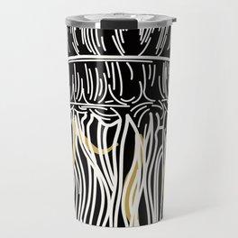 Electric Gold Jellyfish Uno Travel Mug