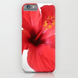 Scarlet Hibiscus Tropical Flower Vector iPhone Case