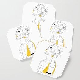 Yellow Lip Coaster