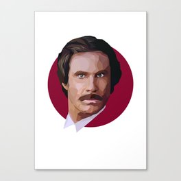 Ron Burgundy Canvas Print
