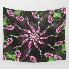 Rosas Moradas 2 Kaleidoscope 6 Wall Tapestry