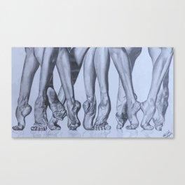 Dancers Feet Canvas Print