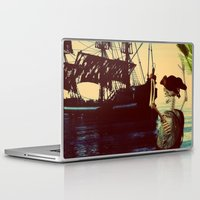 pirate ship Laptop & iPad Skins featuring pirate ship by Ancello