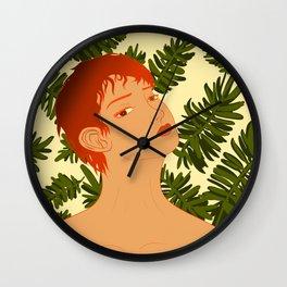 Leaf Me Be Wall Clock
