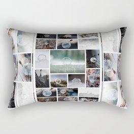 Simplistic Beauty Bubble Collage Rectangular Pillow