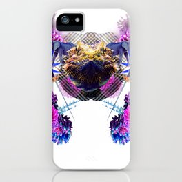 Condescending Bearded Dragon Conquers Confused Mariners At Midnight iPhone Case