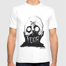 Fear White MEDIUM Mens Fitted Tee