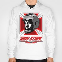 stark Hoodies featuring Tony Stark by Ant Atomic