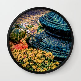 Mums and Gourds are Everywhere Wall Clock