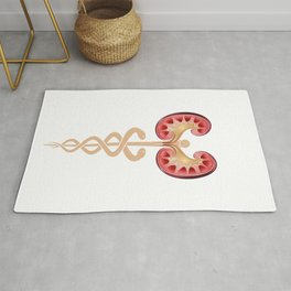 Nephrology Renal Dialysis design Gift Kidneys with Caduceus design Rug