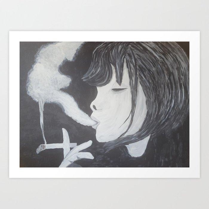 Blowing Smoke Art Print By Dandt Society6