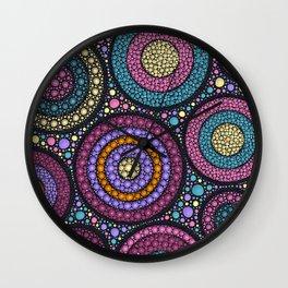 Dot Art Circles Pastels Wall Clock