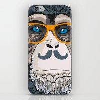 monkey iPhone & iPod Skins featuring Monkey! by  Steve Wade ( Swade)