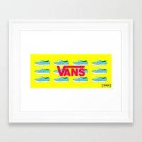 vans Framed Art Prints featuring Vans by Jayesh Jayman Joshi