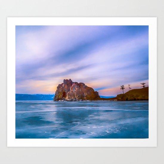 Shaman Rock, lake Baikal Art Print