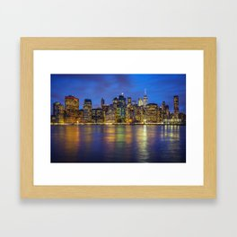 Lower Manhattan Skyline Framed Art Print