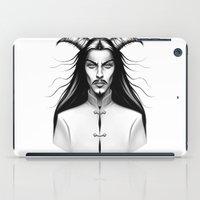 devil iPad Cases featuring Devil Man by Andrea Fryer