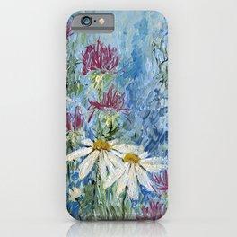 Wildflower Blues Garden Flower Acrylic Art iPhone Case