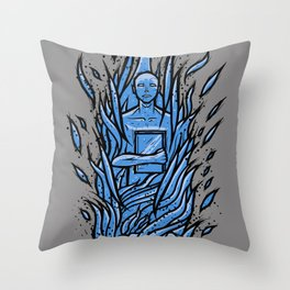 fahrenheit 451 - bradbury blue variant Throw Pillow