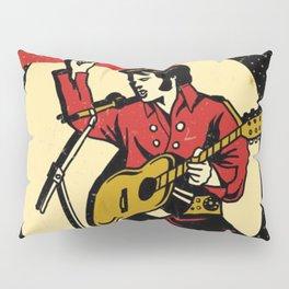 Elvis -Retro Las Vegas Poster Pillow Sham