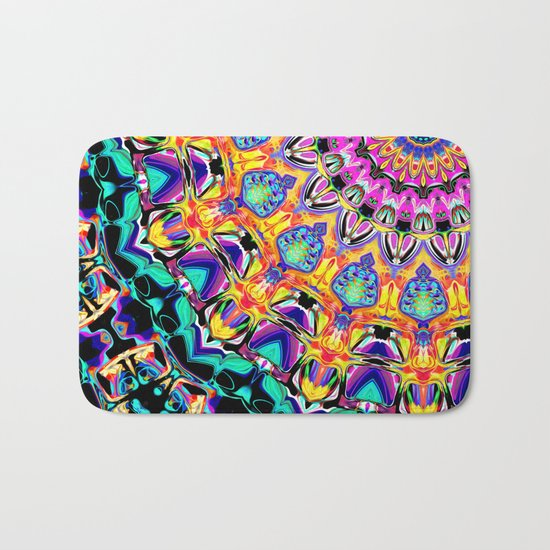 Ornate Spectral Abstract Bath Mat