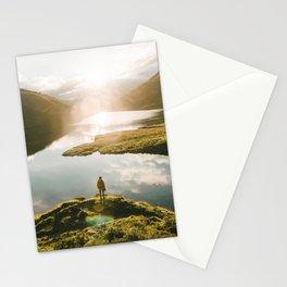 Switzerland Mountain Lake Sunrise - Landscape Photography Stationery Cards