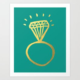 Diamond Ring Art Print