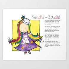 Sadie the Pattern Lady Art Print