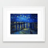 van gogh Framed Art Prints featuring Van Gogh by Palazzo Art Gallery