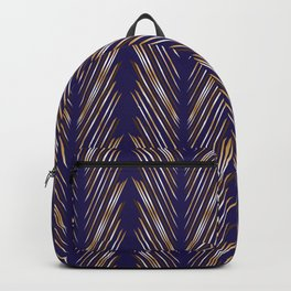 Navy Blue Wheat Grass Backpack