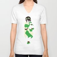 airbender V-neck T-shirts featuring Toph by JHTY