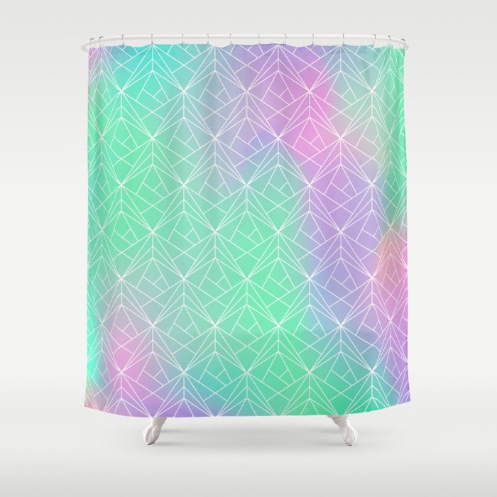 Pattern Hologram Shower Curtain By Reemikins