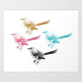 Mockingbirds  Art Print