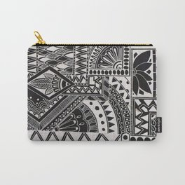 Inverted Retro Flower Doodle Carry-All Pouch