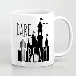 Dare to Dream Fantasy Castle Silhouette Coffee Mug
