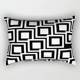 Black and White Squares Pattern 02 Rectangular Pillow